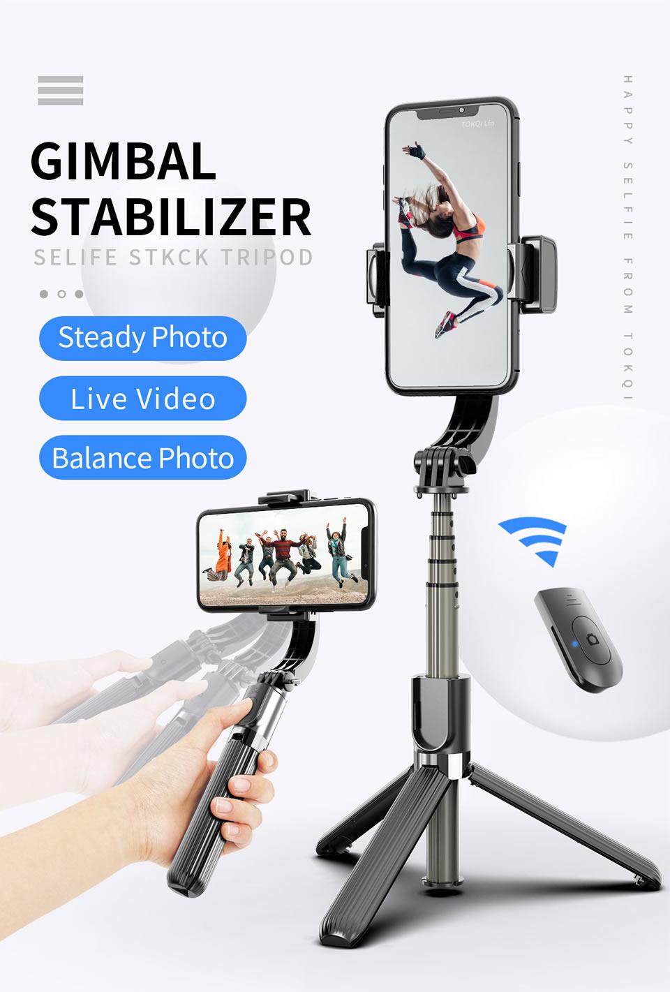 GẬY CHỐNG RUNG GIMBAL STABILIZER L08 - Selfie Stick Tripod, Selfieshow L08 Gimbal Cầm Tay Ổn Định Hỗ Trợ Quay...