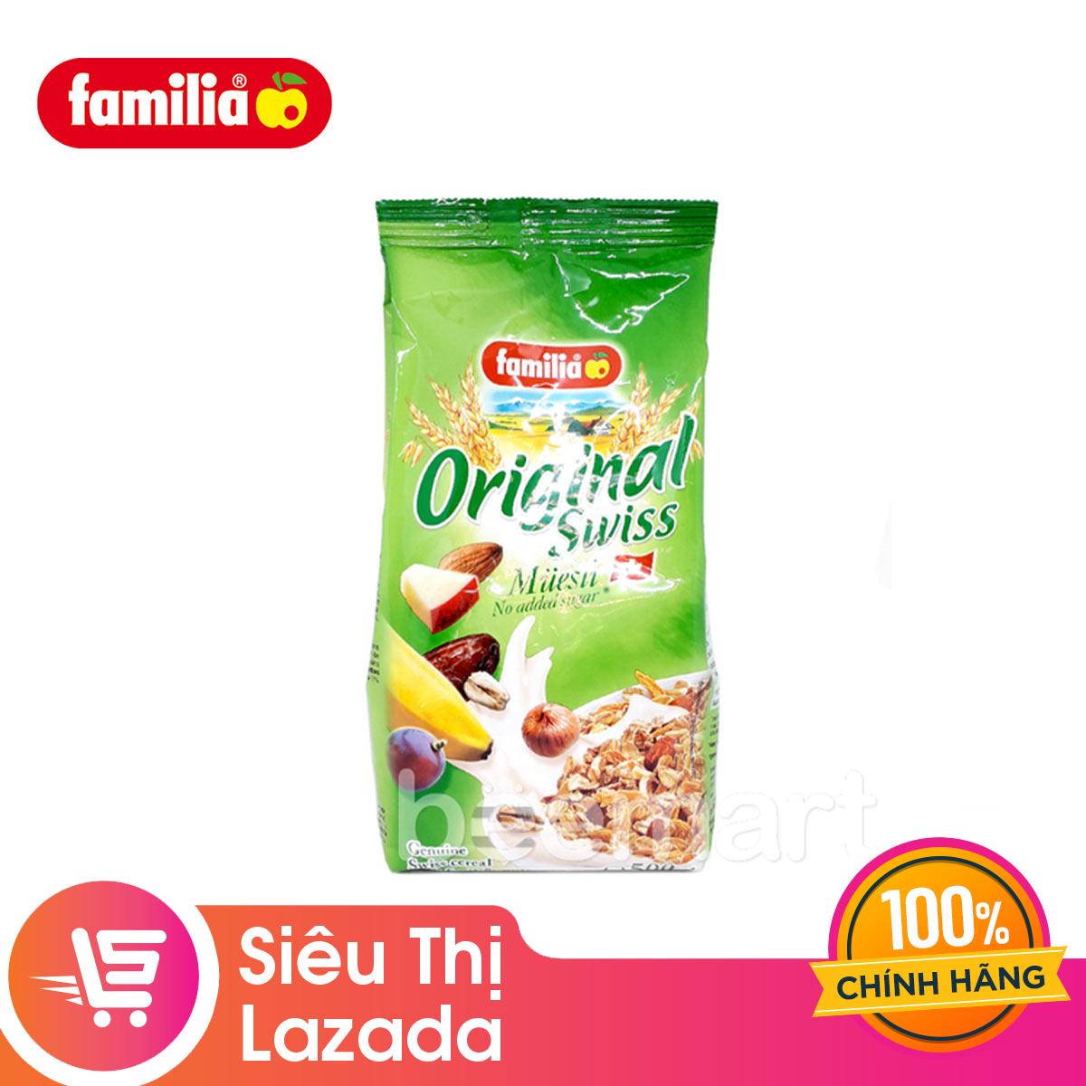 [Siêu thị Lazada] Ngũ cốc trộn trái cây sấy khô không đường Original Swiss Muesli 500g – sản phẩm hữu cơ tốt cho sức khỏe phù hợp với mọi lứa tuổi