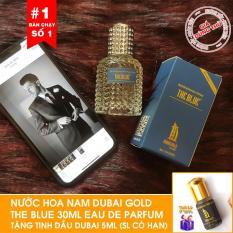 [Tặng tinh dầu Dubai ] – Nước hoa nam Dubai Gold The Blue 30ml dạng xịt Tặng tinh dầu Dubai 5ml khi mua hàng hôm nay