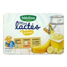 Sữa chua Bledina mini vị chuối vỉ 6 trẻ từ 6m-36m date T10.2020