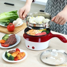 Ca nấu mỳ ăn lẩu mini 2 tầng có tay cầm đa năng