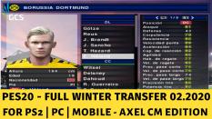 PES20 Axel CM Edition Cho PS2, PC – Full Chuyển Nhượng 02.2020