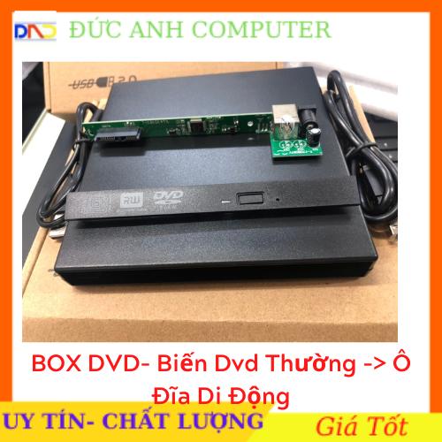 Box DVD Đựng Ổ Đĩa DVD Laptop Gắn Ngoài Qua Cổng USB Loai Mỏng 9.5mm / Dày 12.7mm