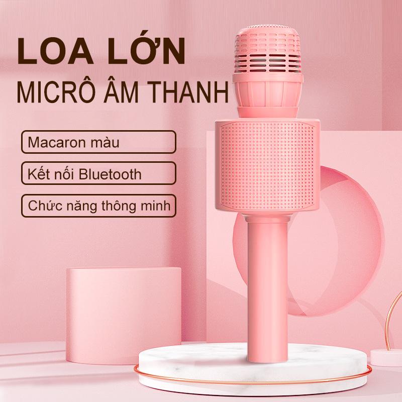 【New Be Có sẵn trong hai phiên bản】Mic Hát Karaoke Bluetooth Không Dây Kèm loa Âm vang Ấm mic hát...