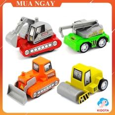 Đồ chơi xe lu mô hình KIDOTA chất liệu nhựa bền đẹp an toàn cho bé XMH06