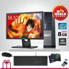 Bộ máy tính Dell Optiplex 990 ( cpu Core i5 2400, ram 8gb, ổ cứng SSD 240gb ), Màn Hình Dell 19inch.Quà tặng bàn phím, chuột DELL hãng, usb wifi. Bảo hành 2 năm.