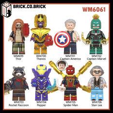 WM6061- Đồ chơi lắp ráp minifigures và non lego mô hình lắp ráp sáng tạo – Đồ chơi cho bé trai và bé gái- Siêu anh hùng Marvel Avengers và DC super heroes: Super man, Spider man, Thor, Iron man,