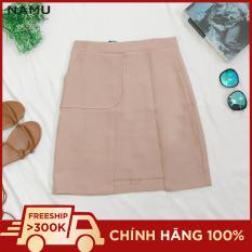 Chân váy kem pastel công sở 1 túi hông hiệu NAMU 810080180CR