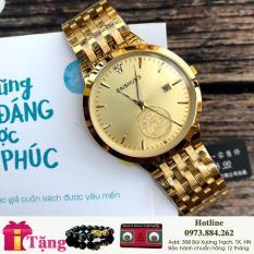 [SIÊU KHUYẾN MẠI] TẶNG VÒNG + TẶNG 2 PIN AG4 khi mua Đồng hồ nam Baishuns 6970 vàng mặt vàng chống nước, chống xước tốt