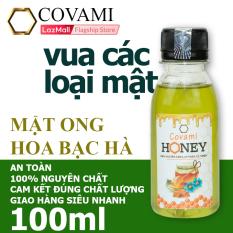 Mật ong nguyên chất hoa bạc hà COVAMI 100ml, an toàn, cam kết đúng chất lượng