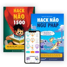 Combo 2 sách Hack Não 1500 + Hack Não Ngữ Pháp – Tặng App học phát âm và ngữ pháp, làm chủ từ vựng và nắm chắc ngữ pháp tiếng Anh chỉ sau 2 tháng
