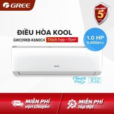Điều hòa GREE- công nghệ Real Cool – 1 HP (9000 BTU) – KOOL GWC09KB-K6N0C4 (Trắng) – Hàng phân phối chính hãng