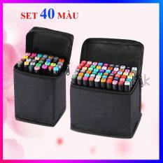 Bộ bút màu Touch 7, bút dạ màu anima cao cấp – Set 40 màu + có kèm theo túi đựng