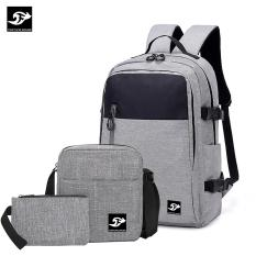 Combo B120: BALO đi học, đi làm Laptop 16inch + túi đeo chéo IPAD + bóp bút vải bố xước cao cấp Fortune Mouse B120