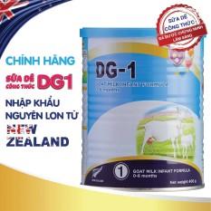 Sữa Dê Công Thức DG-1 lon 400g nhập khẩu nguyên lon từ New Zealand, hàng chính hãng, đảm bảo chất lượng