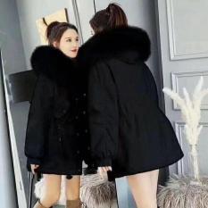 Áo khoác kaki mũ lông