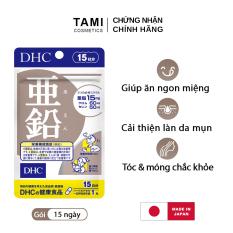 Viên uống kẽm DHC Nhật Bản thực phẩm chức năng zinc giúp ăn ngon miệng, kiểm soát nhờn giảm mụn, dưỡng tóc và móng khỏe, hỗ trợ sinh lý nam gói 15 ngày TA-DHC-ZIN15