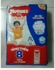 Tã quần Huggies Size XXL 56 miếng tặng thêm 8 miếng