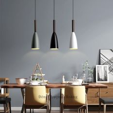 Đèn thả trang trí đui gỗ dễ thương nhiều màu (Chưa gồm bóng)