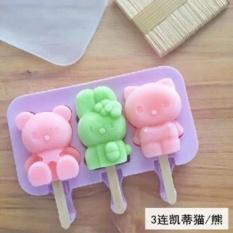 NHIỀU MẪU (TẶNG KÈM 50 QUE GỖ) Khuôn kem silicon, khuôn làm kem nhựa dẻo hình thú xinh yêu cho ngày hè mát lạnh, khuôn đổ thạch, khuôn kẹo mút