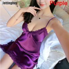 Jettingbuy Yingzi Phụ Nữ Đồ Lót Lụa Áo Choàng Váy Ngủ Váy Ngủ Sexy Đồ Ngủ