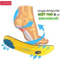 Lót giày thể thao EVA có rãnh giảm sốc và gel chống thốn gót buybox -BBPK26