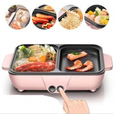 Bếp điện mini 2 ngăn sinh viên | 1 Ngăn lẩu 1 ngăn nướng tiện lợi