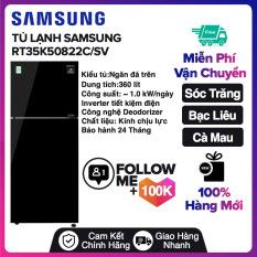 Tủ lạnh Samsung Inverter 360 lít RT35K50822C/SV Mới 2020 Miễn phí vận chuyển nội thành Sóc Trăng, Bạc Liêu, Cà Mau