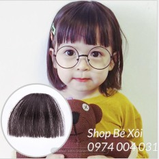 [HÌNH THẬT] Kẹp tóc mái giả cho bé gái, tóc giả bé gái, mái giả cho bé