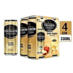 Combo 4 lon nước táo lên men STRONGBOW GOLD APPLE