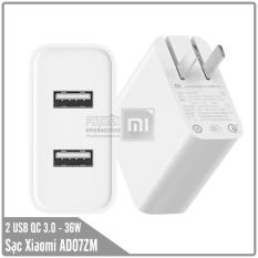 Củ sạc nhanh Xiaomi 2 USB Quick Charge 3.0 AD07ZM – Max 36W