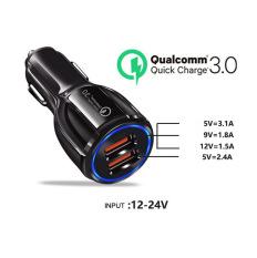 [HCM]Sạc Nhanh Ô Tô 2 cổng USB 3.1A Cốc Sạc Nhanh Quick Chagre 3.0 Xe Hơi BKS-2U Xịn Bảo Hành 12 Tháng