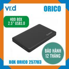 Box ổ cứng 2.5 inch Orico 2577U3 Sata 3.0 – Dùng cho HDD, SSD – Chính hãng bảo hành 12 tháng!