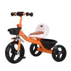 Xe đạp 3 bánh trẻ em S400 ghế ngồi da êm, có giỏ và hộp để đồ chơi (Cho bé 1-7 tuổi)