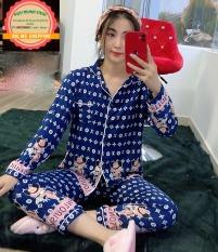 [TDQD]Đồ Bộ Pijama Lụa Hàn Chữ Siêu Đẹp Dưới 58kg