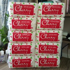 Cây (10 bịch) khăn giấy rút, khăn giấy lau đa năng CHERRY bỏ hộp vuông – 3kg/cây