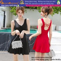 Váy đầm đi biển liền thân đồ bơi nữ có mút liền quần GLSWIM064 Cuocsongvang