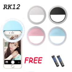 【Like】Đèn LED kẹp điện thoại hỗ trợ chụp hình Selfie,Selfie LED Ring Flash Lumiere Điện thoại Di động LED Điện thoại di động Light Clip Đèn(Không có pin)