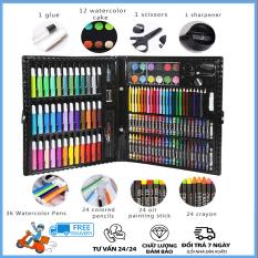 Bộ hộp màu 150 chi tiết- Bộ tô màu – Quà tặng cho bé – Không độc hại, làm quà tặng hoặc văn phòng phẩm – Bộ bút màu 151 món (Màu dạ, màu chì, màu nước)