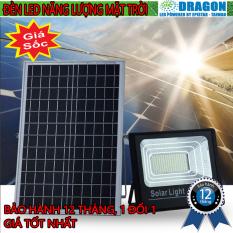 Đèn pha led Năng Lượng Mặt Trời công suất 200w kèm tấm pin rời có remote có cảm biến tự động dây nối