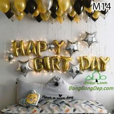 Sét bong bóng sinh nhật trang trí gồm bóng siêu nhũ bóng nhũ nhiều mẫu – Diệp Linh chất liệu tráng nhôm cao cấp, có van 1 chiều tự khoá khi bơm xong