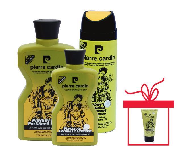 Bộ mỹ phẩm 3 món Play Boy - Pierre Cardin tặng kèm Gel vuốt tóc playboy 150ml
