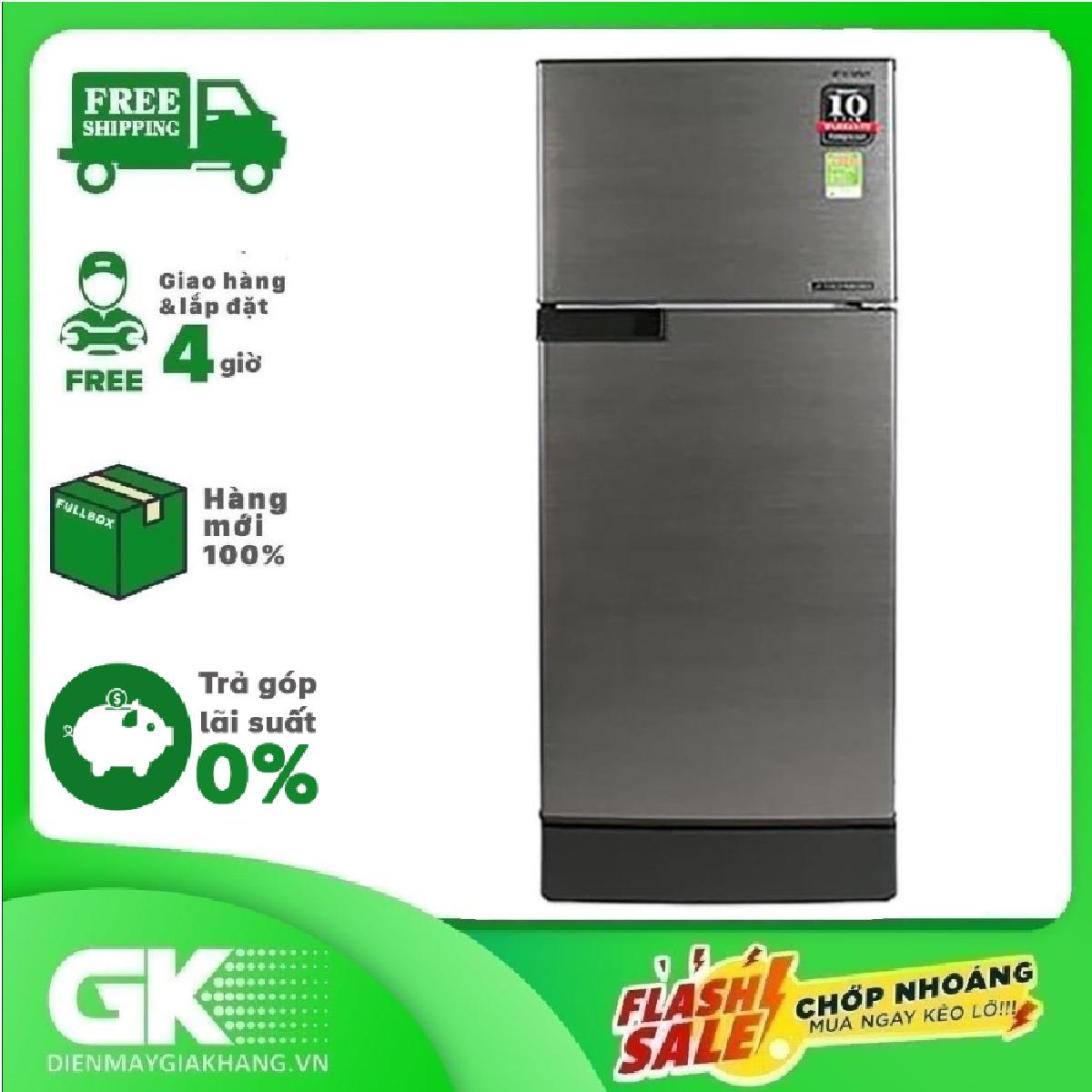 TRẢ GÓP 0% – Tủ lạnh Sharp Inverter 182 lít SJ-X201E-DS – Bảo hành 12 tháng