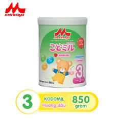 Sữa Morinaga Số 3 Kodomil Cho Bé Từ 3 Tuổi – Hương Dâu 850gr – HSD T12/2021 (không đai đổi quà)