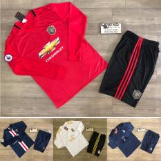 Bộ quần áo bóng đá CLB MC, MU, Real, Liver, PSG dài tay – Bộ Quần áo bóng đá dài tay nam, nữ (size 40-75kg)
