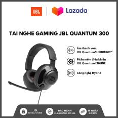 [TẶNG ÁO THUN VÀ NÓN QUANTUM] Tai nghe Gaming JBL Quantum 300 l Công nghệ JBL QuantumSOUND Signature l Phần mềm điều khiển JBL QuantumENGINE PC l Driver 50mm l HÀNG CHÍNH HÃNG
