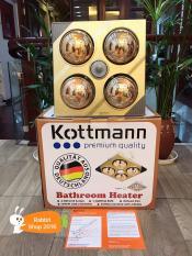 Đèn sưởi nhà tắm âm trần 4 bóng Kottmann K4BT-G công nghệ Đức