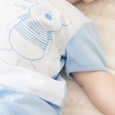 Áo bác sĩ tay ngắn teddy trắng xanh – miomio – dành cho bé từ 0-24 tháng, cam kết hàng đúng mô tả, chất lượng đảm bảo an toàn đến sức khỏe người sử dụng
