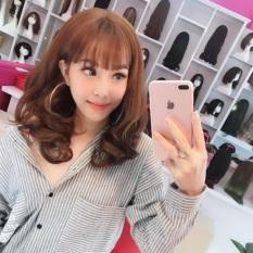 [Siêu Giảm Giá] Bộ tóc giả nguyên đầu xoăn qua vai chất tóc cao cấp