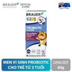 Men vi sinh Brauer Probiotic dạng bột (60g), hỗ trợ và duy trì hệ tiêu hóa khỏe mạnh, cho trẻ 3 tuổi trở lên